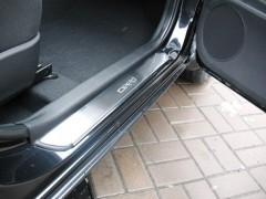 Фото 1 - Накладки на пороги для Kia Ceed '12- (Premium)