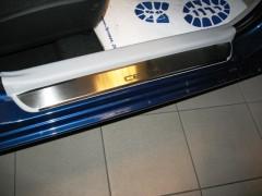Фото 3 - Накладки на пороги для Kia Ceed '12- (Premium)