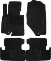 Коврики в салон для Infiniti EX (QX50) '08-17 текстильные, черные (Премиум)