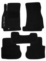 Коврики в салон для Infiniti FX '03-08 текстильные, черные (Премиум)