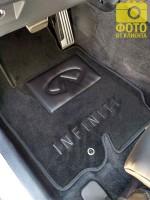 Фото 10 - Коврики в салон для Infiniti FX (QX70) с 2009 текстильные, черные (Премиум)