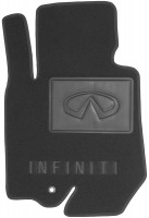 Фото 2 - Коврики в салон для Infiniti FX (QX70) с 2009 текстильные, черные (Премиум)