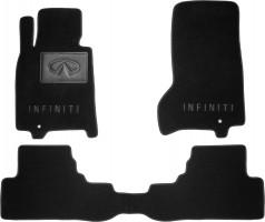 Коврики в салон для Infiniti G (Q50) Sedan '07-10 текстильные, черные (Премиум)