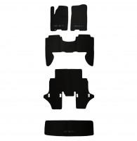 Коврики в салон для Infiniti QX56 '04-10 текстильные, черные (Премиум) 1+2+3 ряд