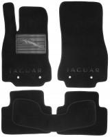 Коврики в салон для Jaguar XF '09-15 текстильные, черные (Премиум)