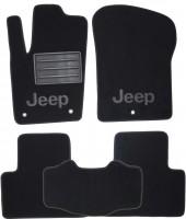 Коврики в салон для Jeep Grand Cherokee '11- текстильные, черные (Премиум)