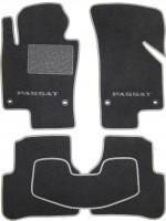 Коврики в салон для Volkswagen Passat B6 '05-10 текстильные, серые (Премиум) 4 клипсы