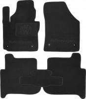 Коврики в салон для Volkswagen Touran '03-15 текстильные, черные (Премиум) 4 клипсы