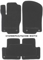 Коврики в салон для Volvo XC 90 '03-14 текстильные, серые (Премиум)