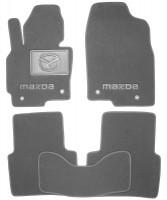 Коврики в салон для Mazda CX-5 '12-17 текстильные, серые (Премиум) 4 клипсы
