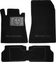 Коврики в салон для Mercedes S-class W140 '91-98 купе, текстильные, черные (Премиум)