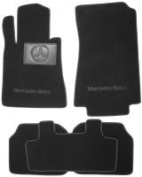 Коврики в салон для Mercedes S-class W140 '91-98 седан, текстильные, черные (Премиум)