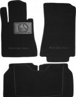 Коврики в салон для Mercedes S-class W140 '91-98 Long, текстильные, черные (Премиум)