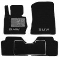 Коврики в салон для BMW X3 F25 '10-17 текстильные, серые (Люкс)