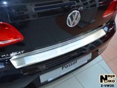 Накладка с загибом на бампер для Volkswagen Passat B7 '10-14 Седан (Premium)
