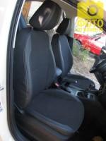 Авточехлы Premium для салона Skoda Octavia A7 '13-17, лифтбек, серая строчка (MW Brothers)