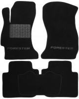 Коврики в салон для Subaru Forester '13-18 текстильные, черные (Премиум)
