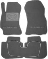 Коврики в салон для Subaru Legacy '10-14 текстильные, серые (Премиум)