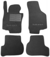 Коврики в салон для Seat Leon '05-12 текстильные, серые (Премиум)