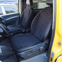 Накидки на передние сидения черные с желтой строкой SOTA Design