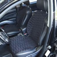 Накидки на передние сидения черные с серой строкой SOTA Design