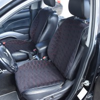 Накидки на передние сидения черные с красной строкой SOTA Design