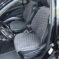 Накидки на передние сидения серые с серой строкой SOTA Design