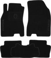 Коврики в салон для Renault Fluence '09- текстильные, черные (Премиум)