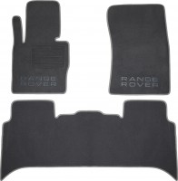 Коврики в салон для Land Rover Range Rover Vogue '02-12 текстильные, серые (Премиум)