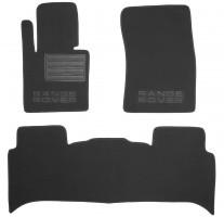 Коврики в салон для Land Rover Range Rover Supercharged '07-12 текстильные, черные (Премиум)