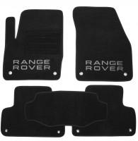 Коврики в салон для Land Rover Range Rover Evoque '11- , 3 дв., текстильные, черные (Премиум)