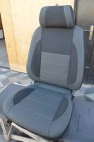 Авточехлы Classic для салона Volkswagen Polo '10-, седан, с деленой спинкой, серая строчка (MW Brothers)