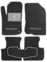Коврики в салон для Peugeot 208 '12- текстильные, серые (Люкс) 2 клипсы