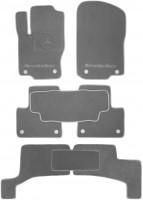 Коврики в салон для Mercedes GL/GLS X166 '12- текстильные, серые (Премиум) 1+2+3 ряд, 8 клипс