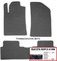 Коврики в салон для Mercedes C-Class W203 '00-07 RWD, текстильные, серые (Премиум)