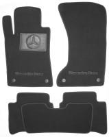 Коврики в салон для Mercedes E-Class W211 2002 - 2009 4matic текстильные, черные (Премиум) 4 клипсы