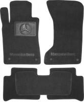 Коврики в салон для Mercedes E-Class W211 2002-2009 4matic текстильные, серые (Премиум) 4 клипсы