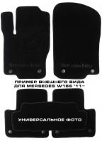 Коврики в салон для Mercedes CLS-Class W219 '04-10 текстильные, черные (Премиум)