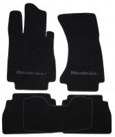 Коврики в салон для Mercedes S-class W220 '98-05 текстильные, черные (Премиум) Long, 4 matic