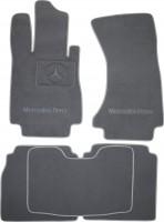 Коврики в салон для Mercedes S-class W220 '98-05 текстильные, серые (Премиум) Long, 4 matic