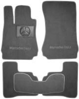 Коврики в салон для Mercedes S-Class W221 '06-13 текстильные, серые (Премиум) 4 клипсы