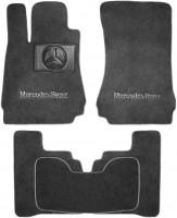 Коврики в салон для Mercedes S-Class W221 '06-13 Long текстильные, серые (Премиум) 4 клипсы