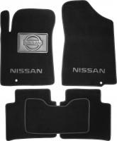 Коврики в салон для Nissan Teana '08- текстильные, черные (Премиум)