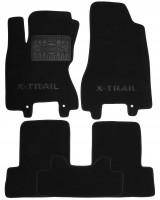Коврики в салон для Nissan X-Trail '08-15 текстильные, черные (Премиум)