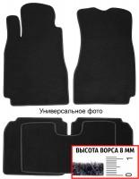 Коврики в салон для Opel Zafira Tourer '12- текстильные, черные (Премиум) 1+2+3 ряд