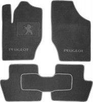 Коврики в салон для Peugeot 408 '12- текстильные, серые (Премиум)