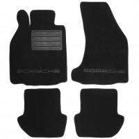 Коврики в салон для Porsche 911 Carrera '06-08 текстильные, черные (Премиум)