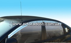 Дефлекторы окон для Hyundai Elantra HD '06-10, хром (Auto Сlover)