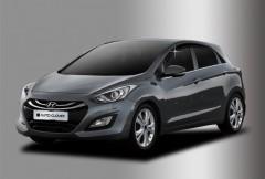 Дефлекторы окон для Hyundai i30 GD '13-16 хетчбек (Auto Сlover)