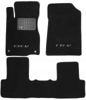 Коврики в салон для Honda CR-V '12- текстильные, черные (Премиум) 2 клипсы